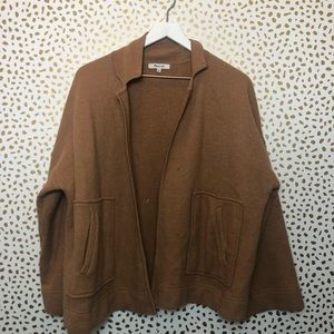 MADEWELL brown knit open front jacket XL